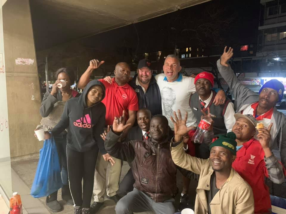 Mark Fish spends Nelson Mandela Day on the streets in Pretoria